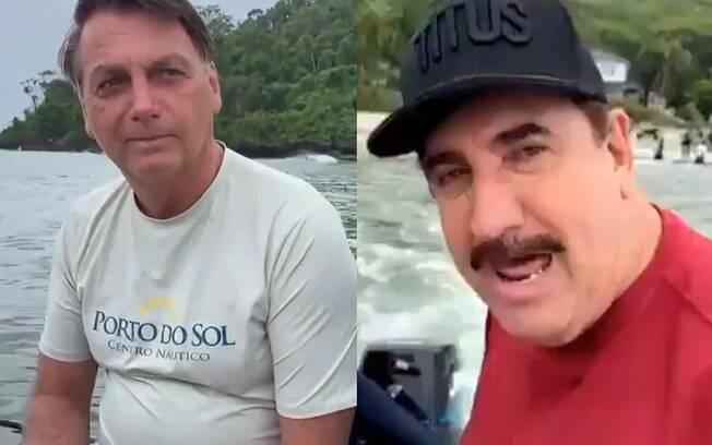 Ratinho e Bolsonaro vão pescar