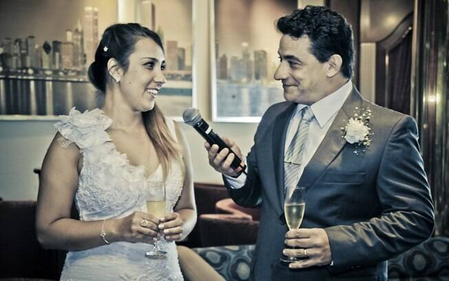 Casar no navio foi mais rápido e prático do que planejar um casamento convencional, conta Iara