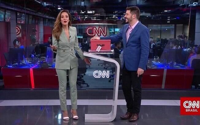 Monalisa Perrone e Evaristo Costa na CNN Brasil