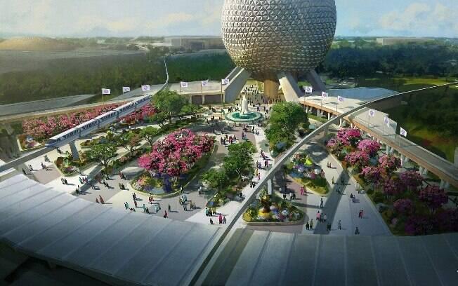 De cara nova: como mostra o conceito, a nova entrada do Epcot deve trazer inovação e preservar o legado do parque