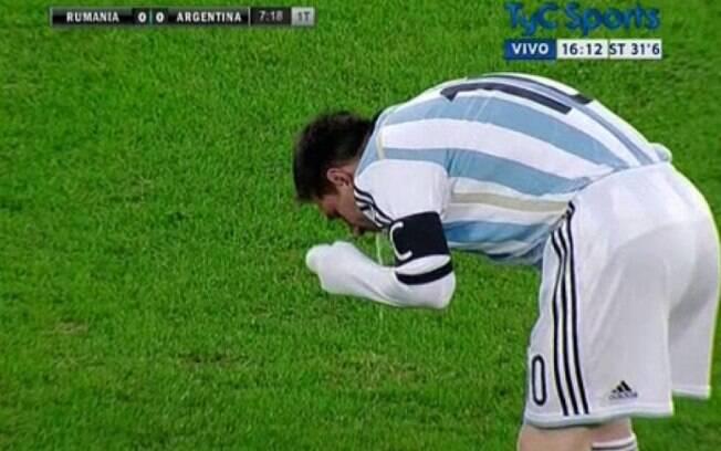 Messi já vomitou algumas vezes durante jogos