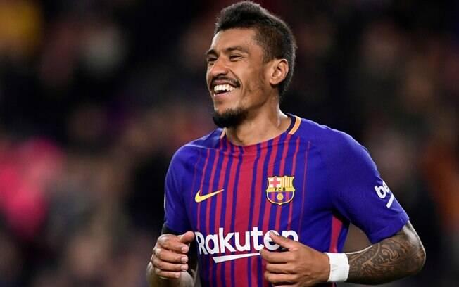 Volante brasileiro Paulinho vive excelente fase com a camisa do Barcelona