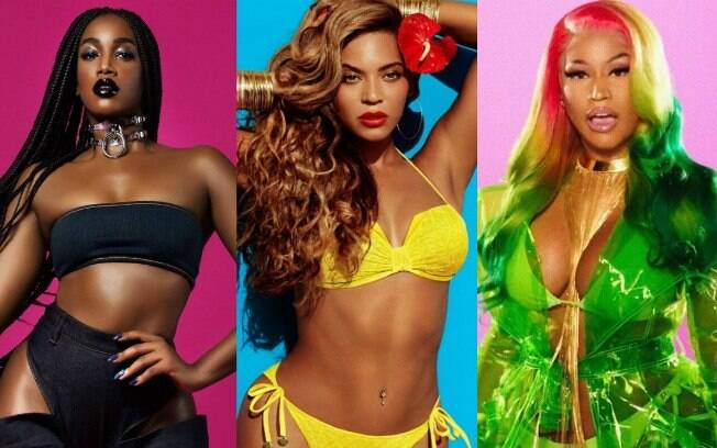 Iza, Beyoncé e Nicki Minaj