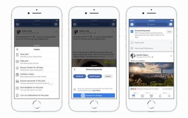 Atualização do Facebook vai permitir que usuários bloqueiem determinada palavra-chave por determinado período de tempo
