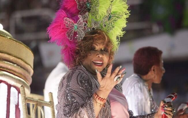 A cantora Alcione, mais conhecida como Marrom, foi homenageada pela escola de samba