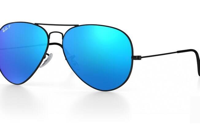 Óculos de sol com lente espelhada, RayBan