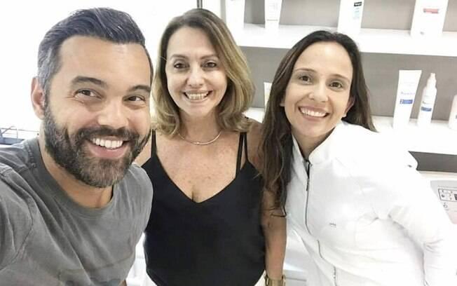 Alex Sampaio, Carmen Vinagre e Fernanda Pozzi