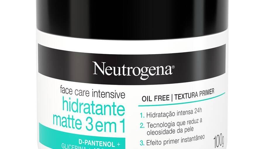 A novidade da Neutrogena produto mantém a pele hidratada, reduz a oleosidade e tem efeito primer