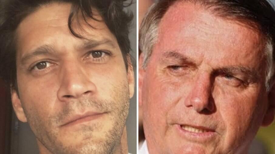 Armando Babaioff e Jair Bolsonaro