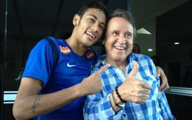 Neymar encontrou o Kiko após o treino do  Santos