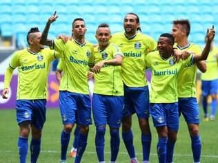 Descontração foi a tônica do treino recreativo na véspera do jogo contra o Cruzeiro
