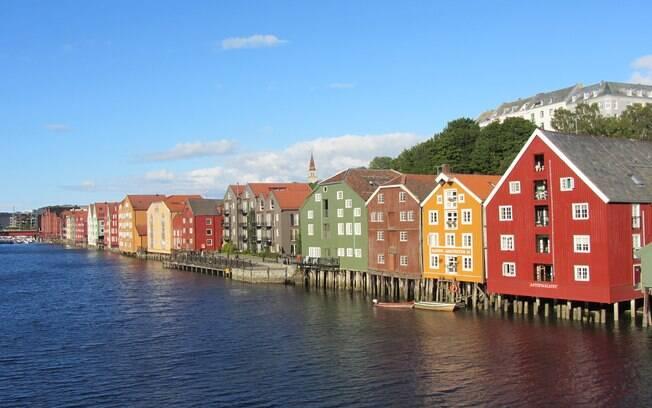 Igor passou por perrengues ao visitar a pequena cidade de Trondheim, na Noruega