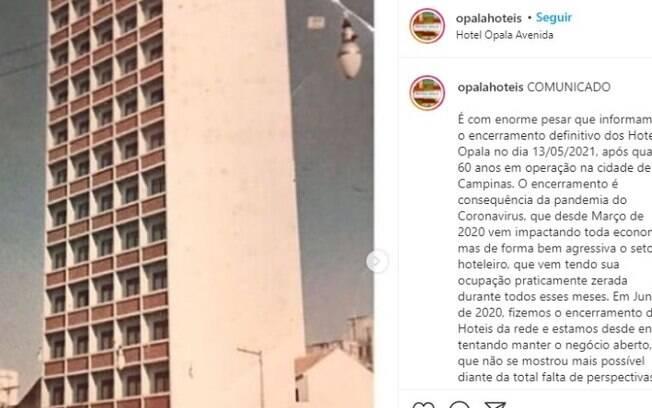 Hotel mais antigo em funcionamento em Campinas fecha nesta quinta