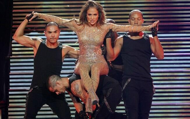 Jennifer Lopez durante o show desse sábado (22) no cassino Mohegan Sun