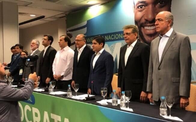 """""""É hora de mudarmos a política"""", diz ACM Neto em apoio a Geraldo Alckmin"""