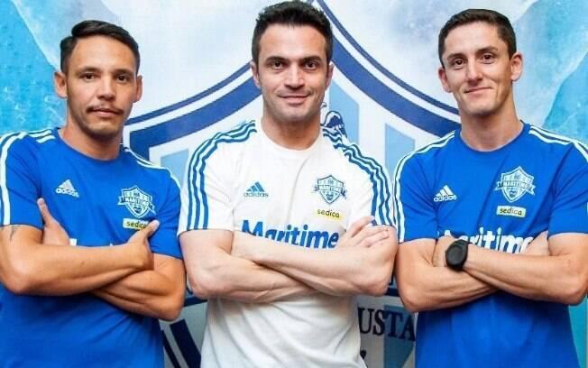 Falcão já com a camisa da equipe italiana de futsal 36e5b8b186188