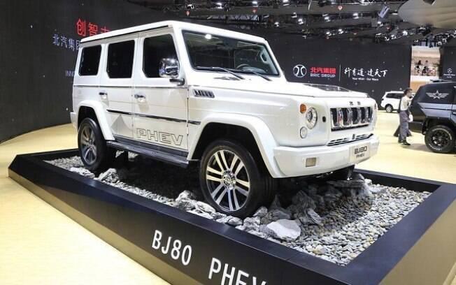 BAIC J80: não resta dúvida de que o SUV chinês tem desenho inspirado no Mercedes-Benz Classe G