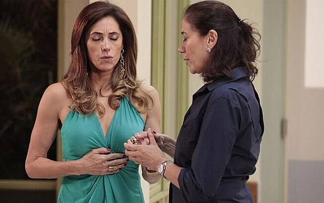 Tereza Cristina e Griselda conversam sobre a gravidez dos filhos
