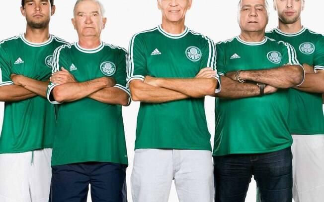 Os antigos ídolos Dudu, Ademir da Guia e  César participaram do lançamento das novas  camisas