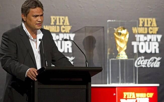 Reynald Temarii, ex-presidente da Confederação de Futebol da Oceania