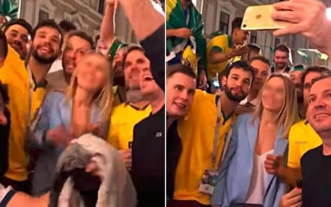 Brasileiros assediam mulher durante a Copa do Mundo de 2018, na Rússia
