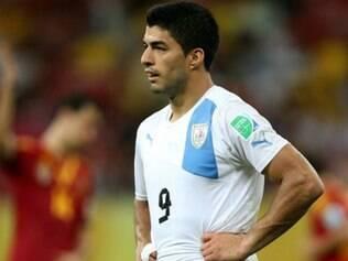 Suárez foi o autor do gol uruguaio na derrota para a Espanha, em Recife