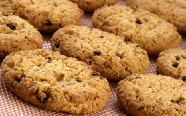 Foto da receita Cookies de aveia fit pronta.