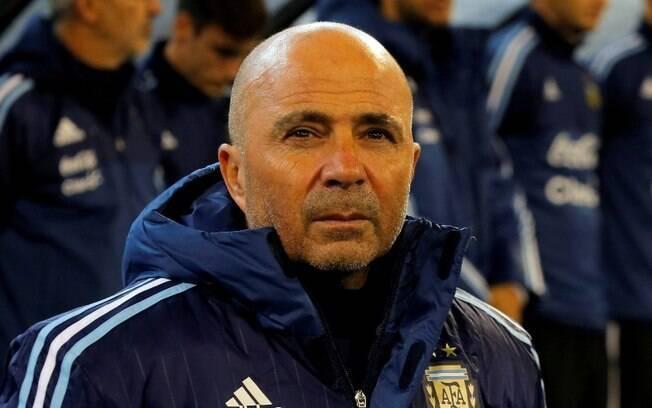 Jorge Sampaoli foi treinador da seleção argentina