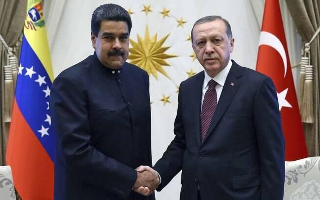 Erdogan chamou Nicolás Maduro de