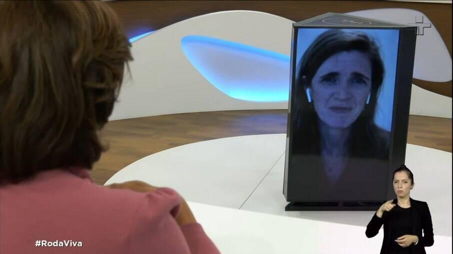 Samantha Power, ex-embaixadora dos EUA na ONU, em entrevista no Roda Viva