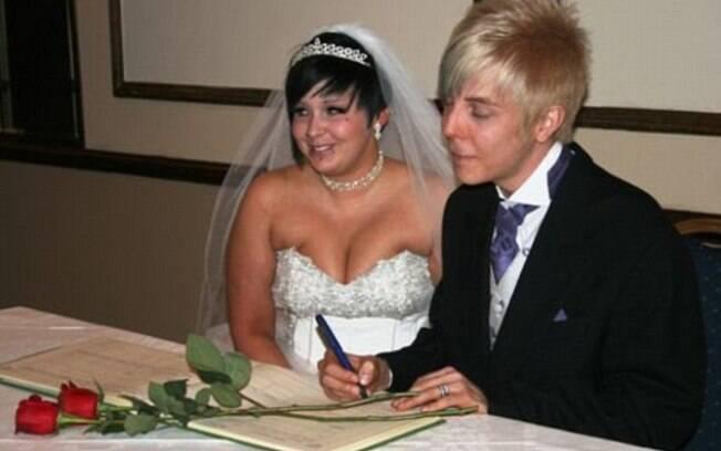 Jazmin Cullen no dia de seu casamento