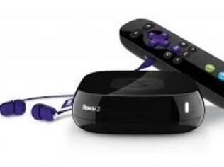 Central multimídia famosa nos EUA, Roku 3 tem controle remoto com fones de ouvido