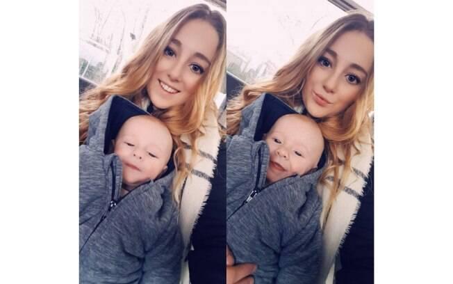 Mãe de Theo, de oito meses, Danielle esperava que a amamentação ajudasse a reduzir o tamanho dos seios