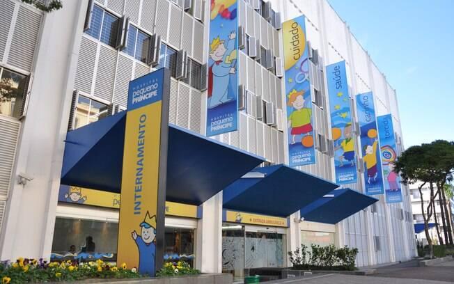 O hospital pediátrico Pequeno Príncipe é o maior do Brasil