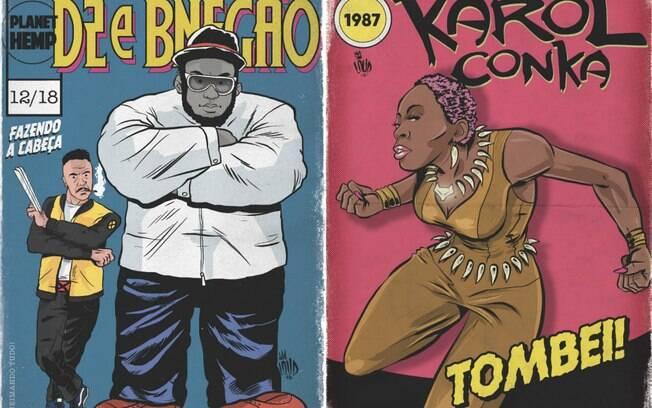 Protagonistas do rap nacional viram heróis de revista em quadrinho