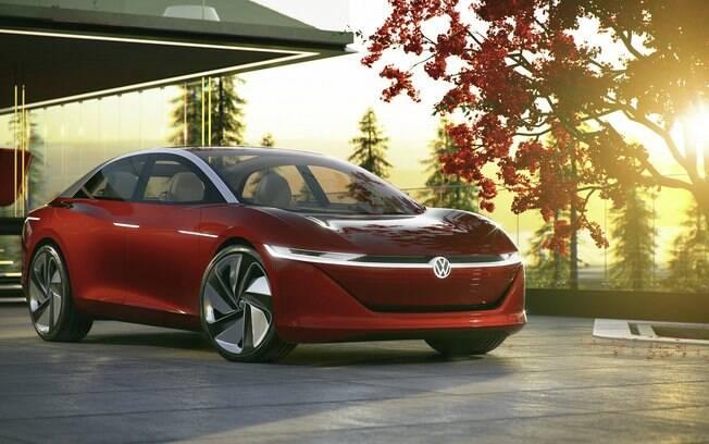I.D. Vizzion é o estudo sobre um sedã elétrico, que a Volkswagen deverá lançar em meados de 2022