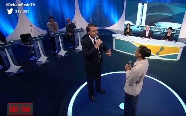 Marina Silva confronta Bolsonaro em debate