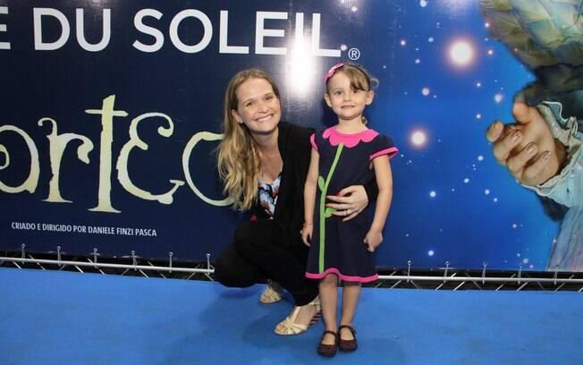 Fernanda Rodrigues com a filha, Luisa