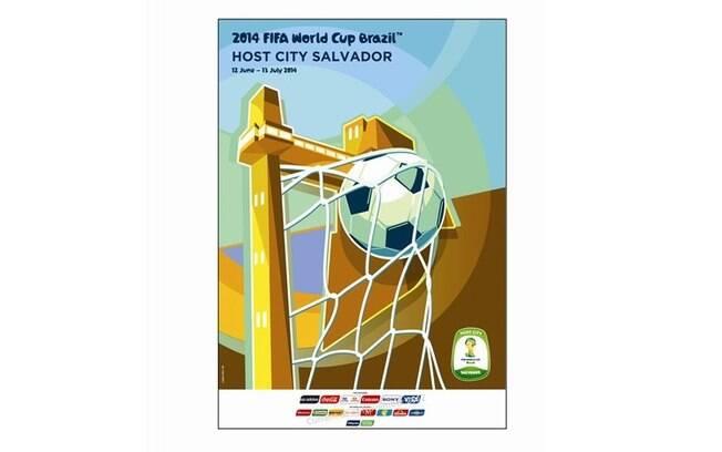 Salvador-BA - Pôster oficial da Copa do Mundo  de 2014