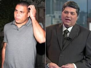 Ronaldo e Datena: briga no Twitter ganhou as telinhas