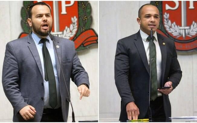 Os deputados estaduais do PSL em SP Gil Diniz e Douglas Garcia