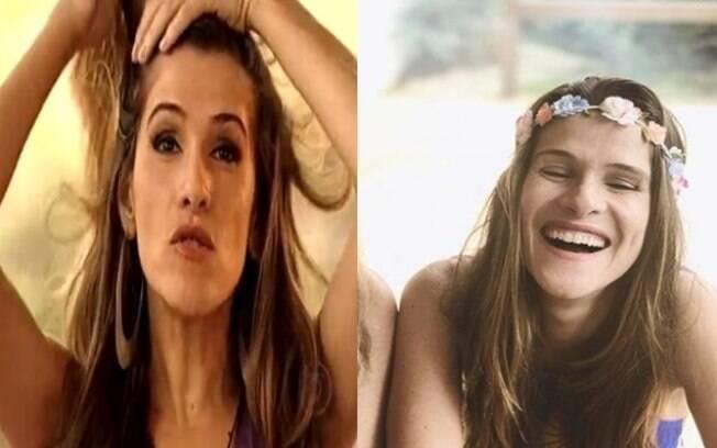 Esquerda: Ingrid Guimarães interpretando a personagem Leandra Borges em 2008. Direita: foto publicada recentemente em seu Instagram