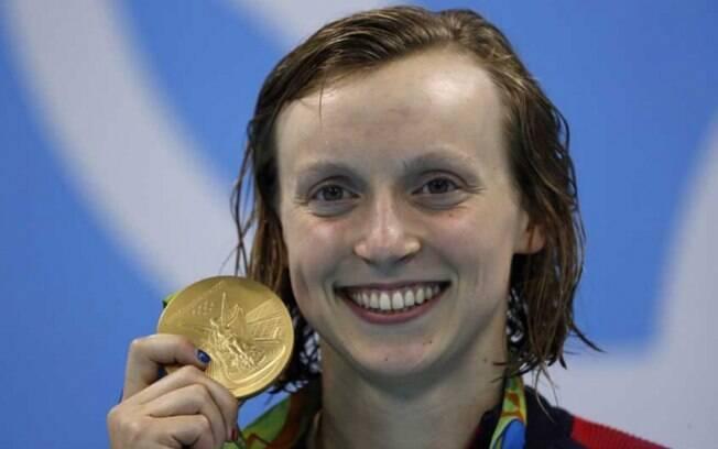 Katie Ledecky, dona de cinco medalhas de ouro