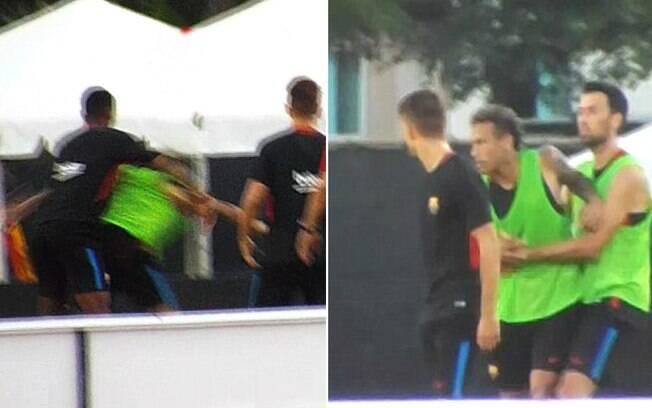 Neymar e Semedo brigaram no treinamento do Barcelona em Miami%2C nos Estados Unidos