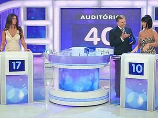 Nicole Bahls e Valentina Francavilla no Programa Silvio Santos