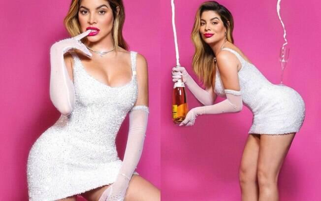 Gkay imita vestido de Kim Kardashian