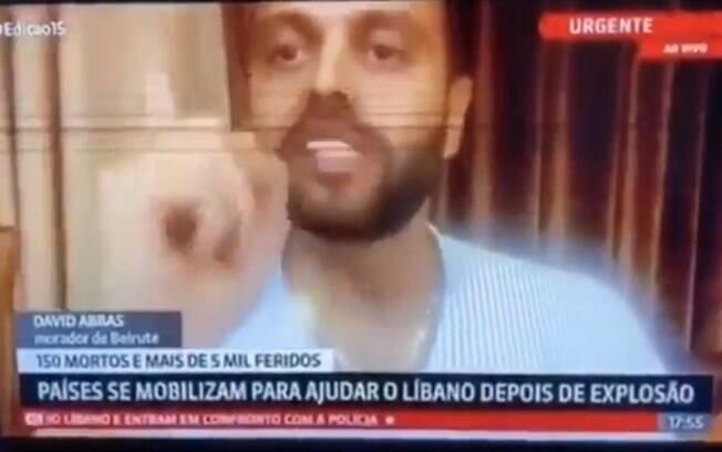 Torcedor do São Paulo protestou contra Leco na GloboNews