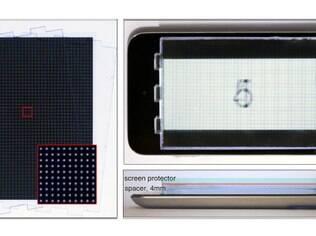 Protótipo de tela com filtro que corrige problemas de visão