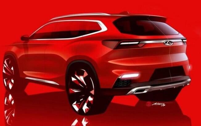 Novo SUV da Chery será apresentado com uma nova marca que será apresentada no dia do lançamento do modelo