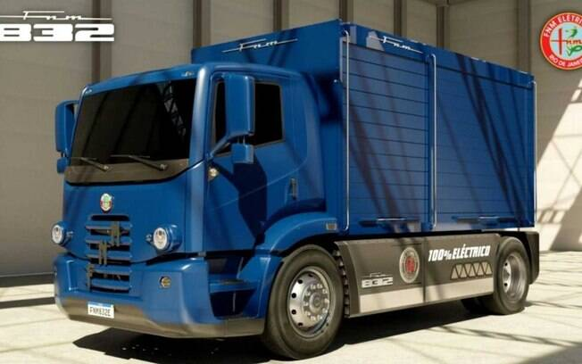 O modelo elétrico FNM 832, com capacidade de 13 toneladas, destina-se ao segmento de caminhões médios